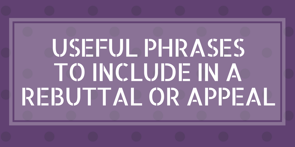 Phrases to use in Journal Submission Rebuttal Letter