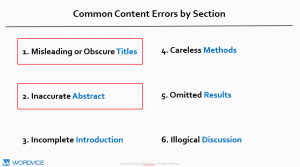 Common Content Errors by Section